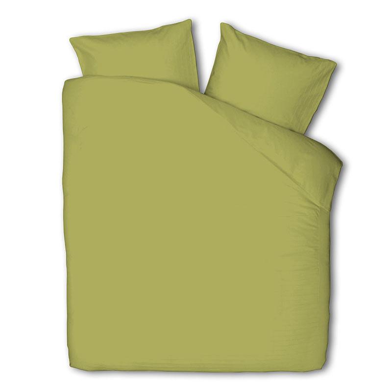 Fresh & Co Uni - Lime Groen 2-persoons (200 x 220 cm + 2 kussenslopen) Dekbedovertrek