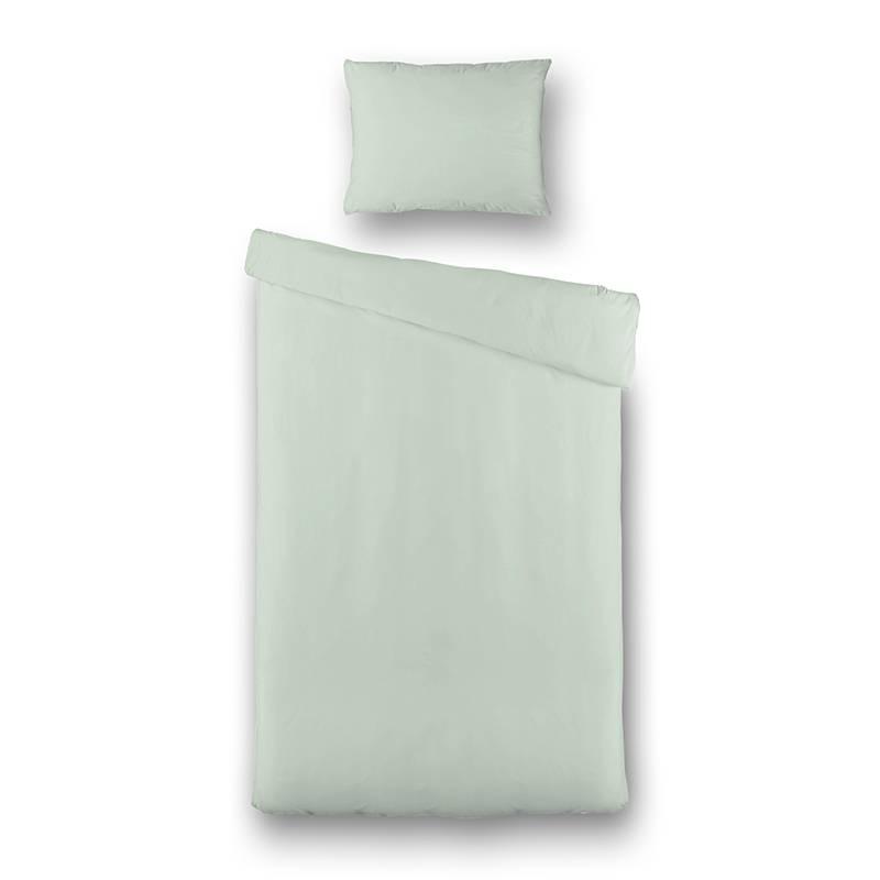 Fresh & Co Uni Pantone Sea Foam 1-persoons (140 x 200/220 cm + 1 kussensloop) Dekbedovertrek