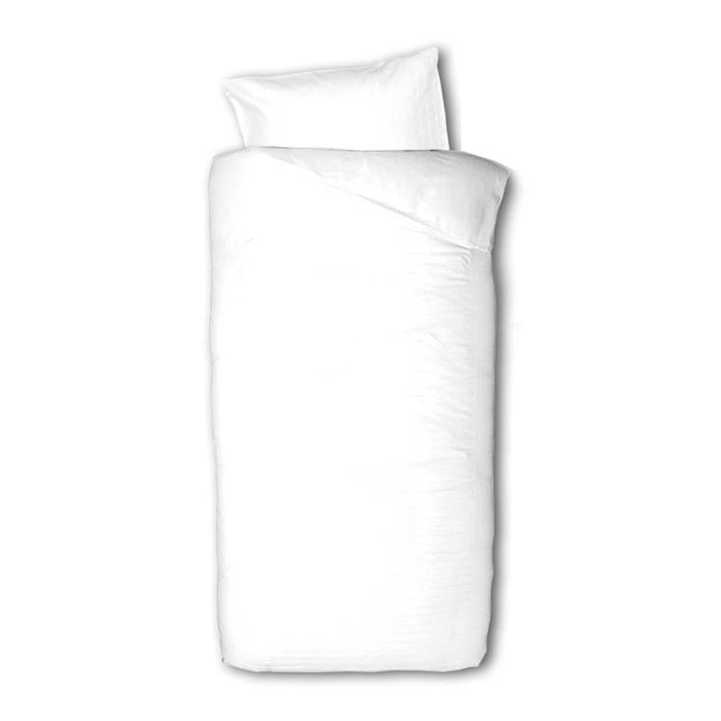 Presence Plain Percale White - Kids 1-persoons (140 x 200/220 cm + 1 kussensloop) Dekbedovertrek