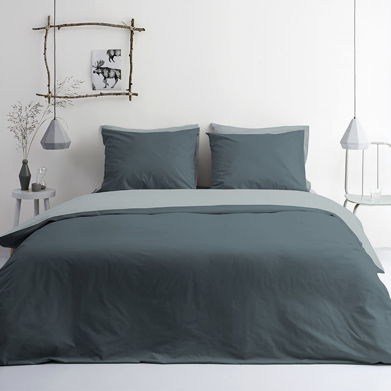 Byrklund Side Way - Groen Lits-jumeaux (240 x 220 cm + 2 kussenslopen) Dekbedovertrek
