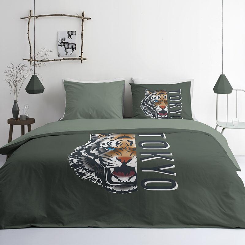 Byrklund Tokyo Tiger 2-persoons (200 x 220 cm + 2 kussenslopen) Dekbedovertrek