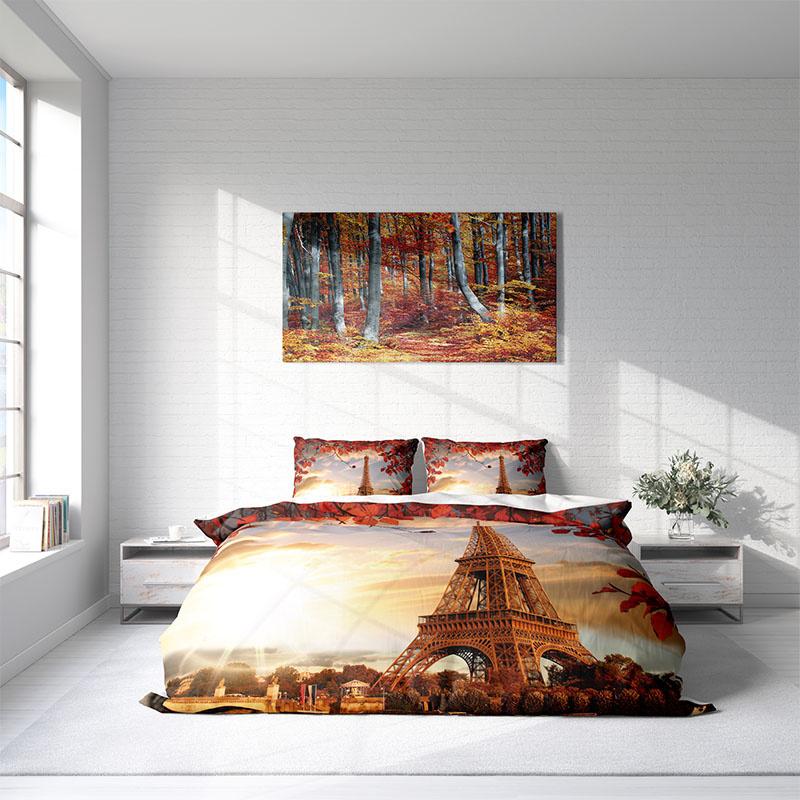 DLC Eiffel Leaves Lits-jumeaux (240 x 220 cm + 2 kussenslopen)