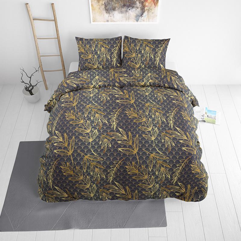 Sleeptime Elegance Golden Leave 1-persoons (140 x 220 cm + 1 kussensloop) Dekbedovertrek