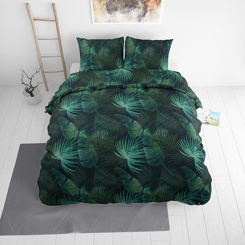 Sleeptime Elegance Dark Plants 1-persoons (140 x 220 cm + 1 kussensloop) Dekbedovertrek
