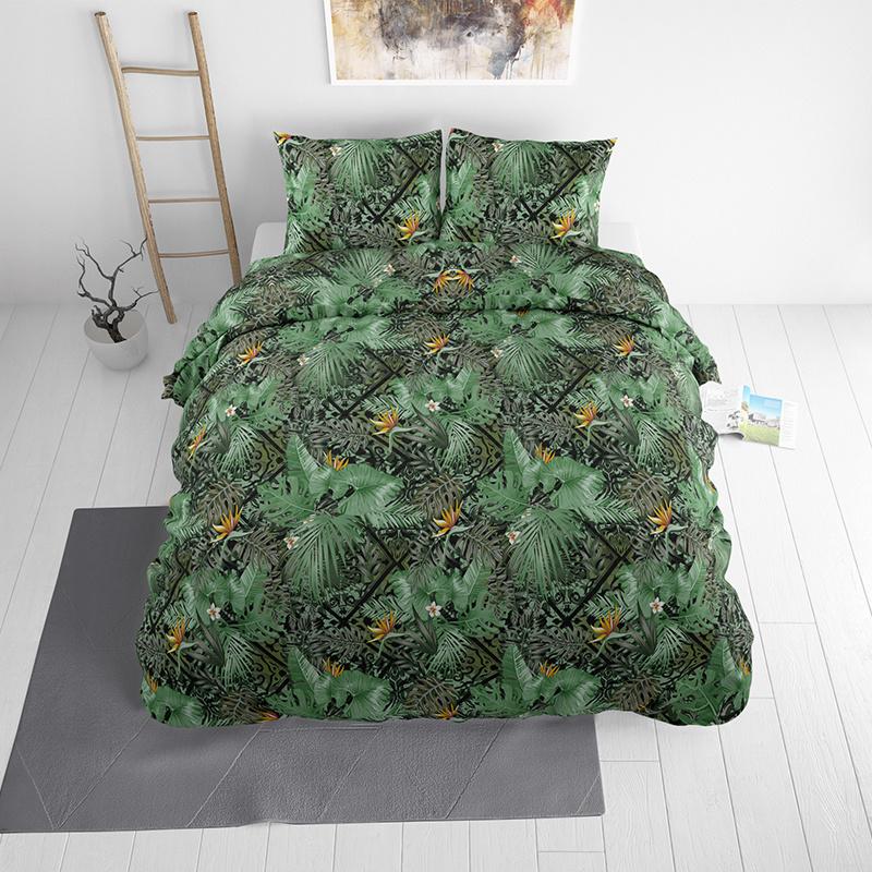 Sleeptime Elegance Greenery Lits-jumeaux (240 x 220 cm + 2 kussenslopen) Dekbedovertrek
