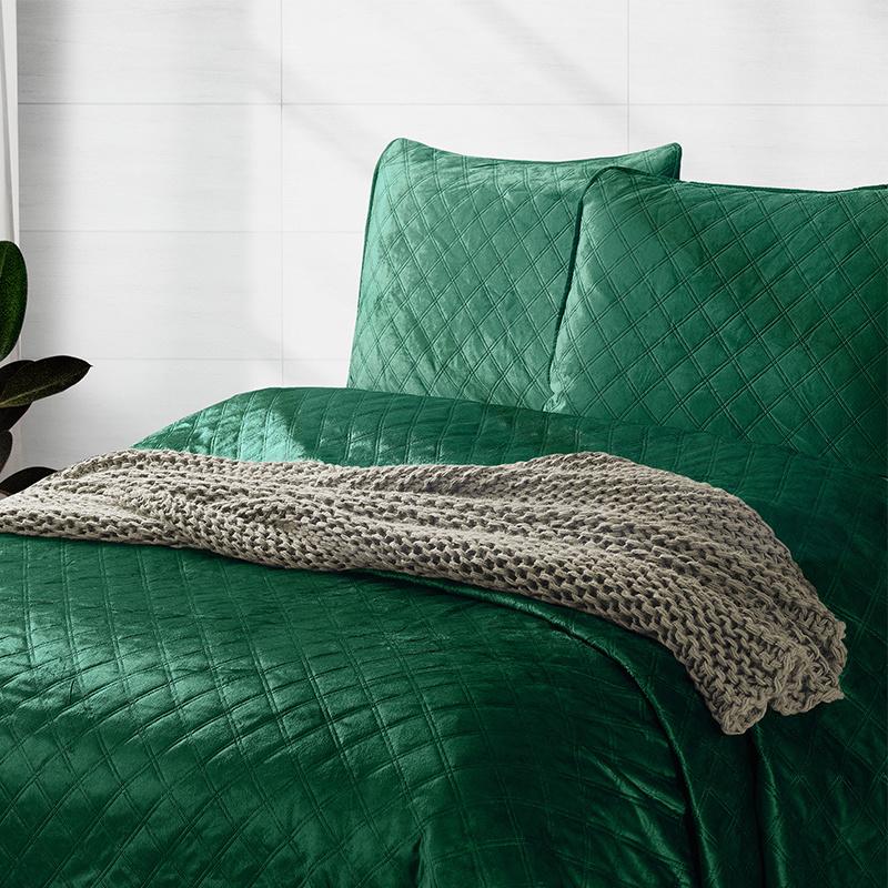 DreamHouse Bedding Bedsprei Classico - Groen 260 x 250 cm