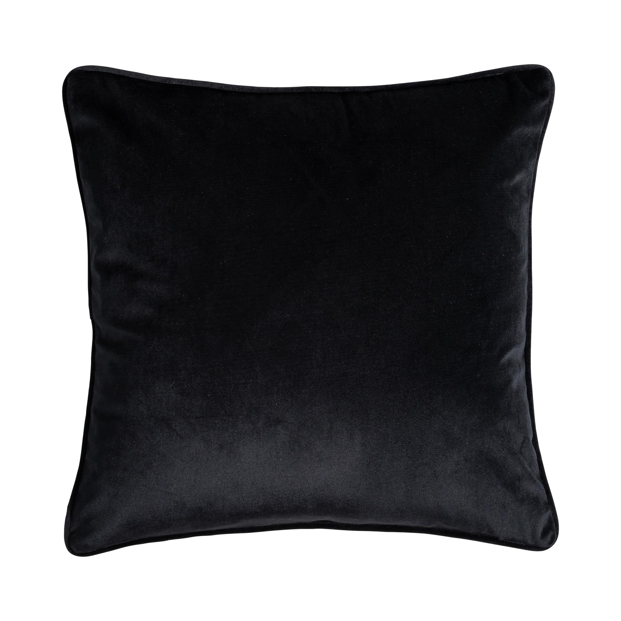 Presence Sierkussenhoes Black Velvet - Zilver Soort: Sierkussenhoes