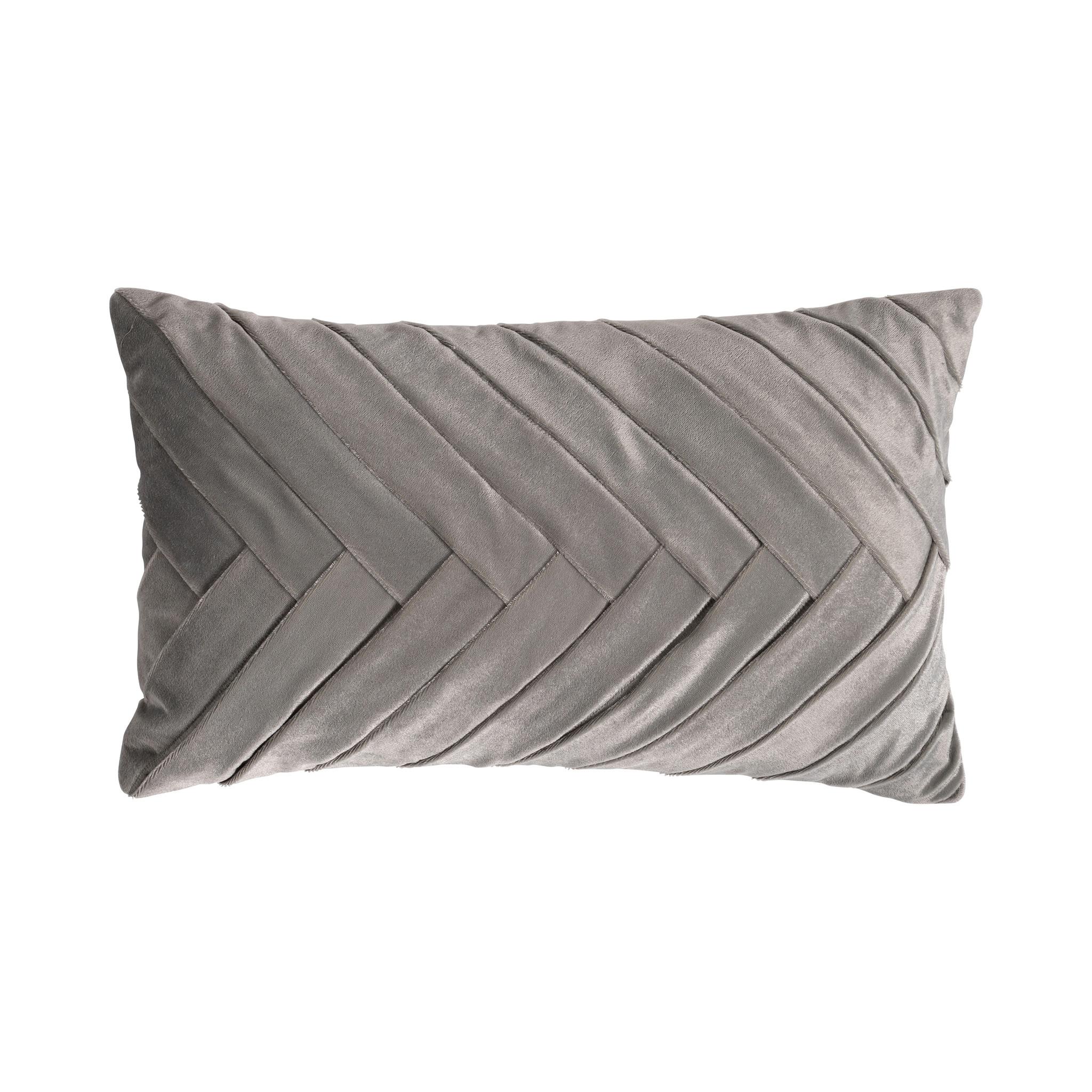 Presence Sierkussenhoes Folded - Zilver Kleur: Zilvergrijs