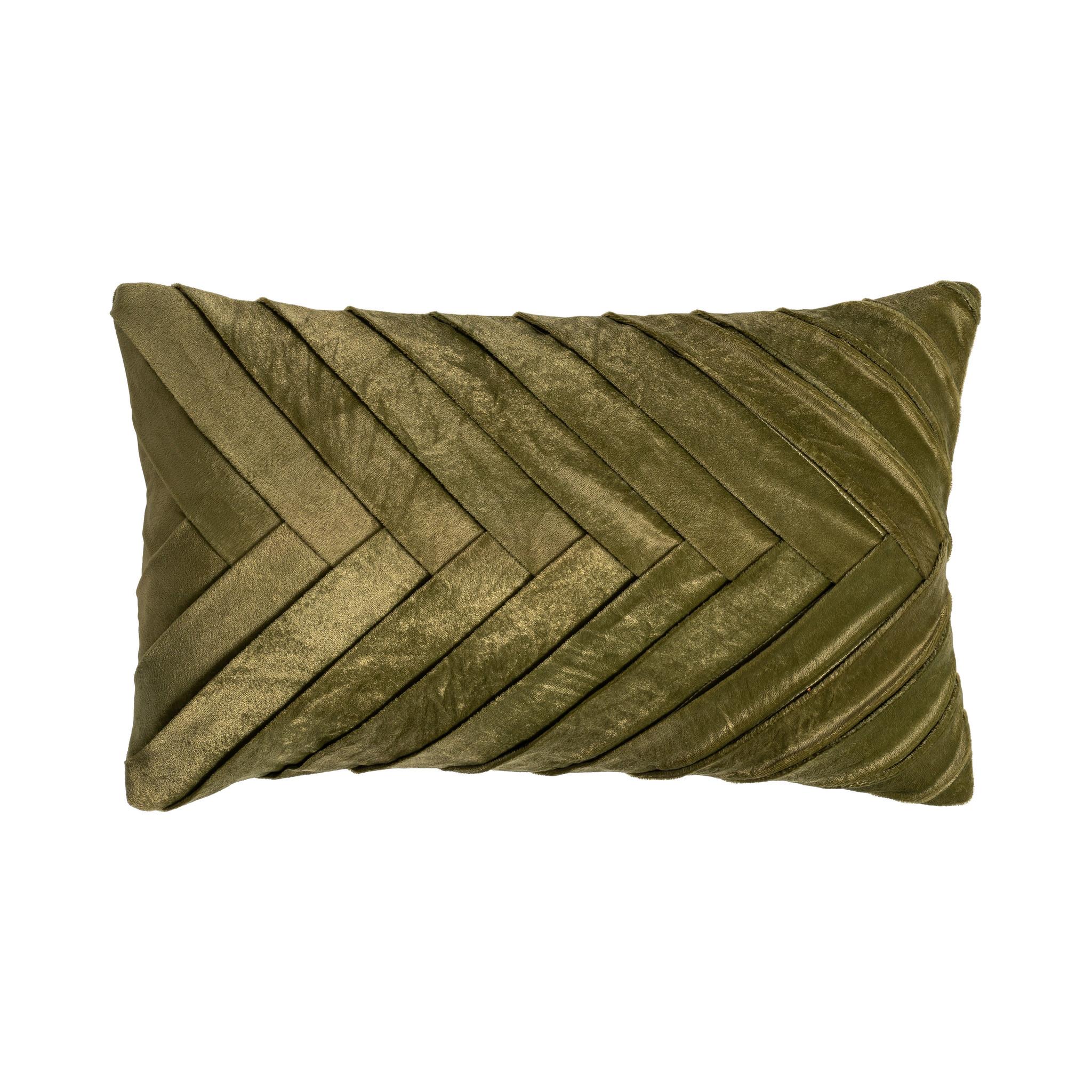 Presence Sierkussenhoes Folded - Green Garden Kleur: Groen