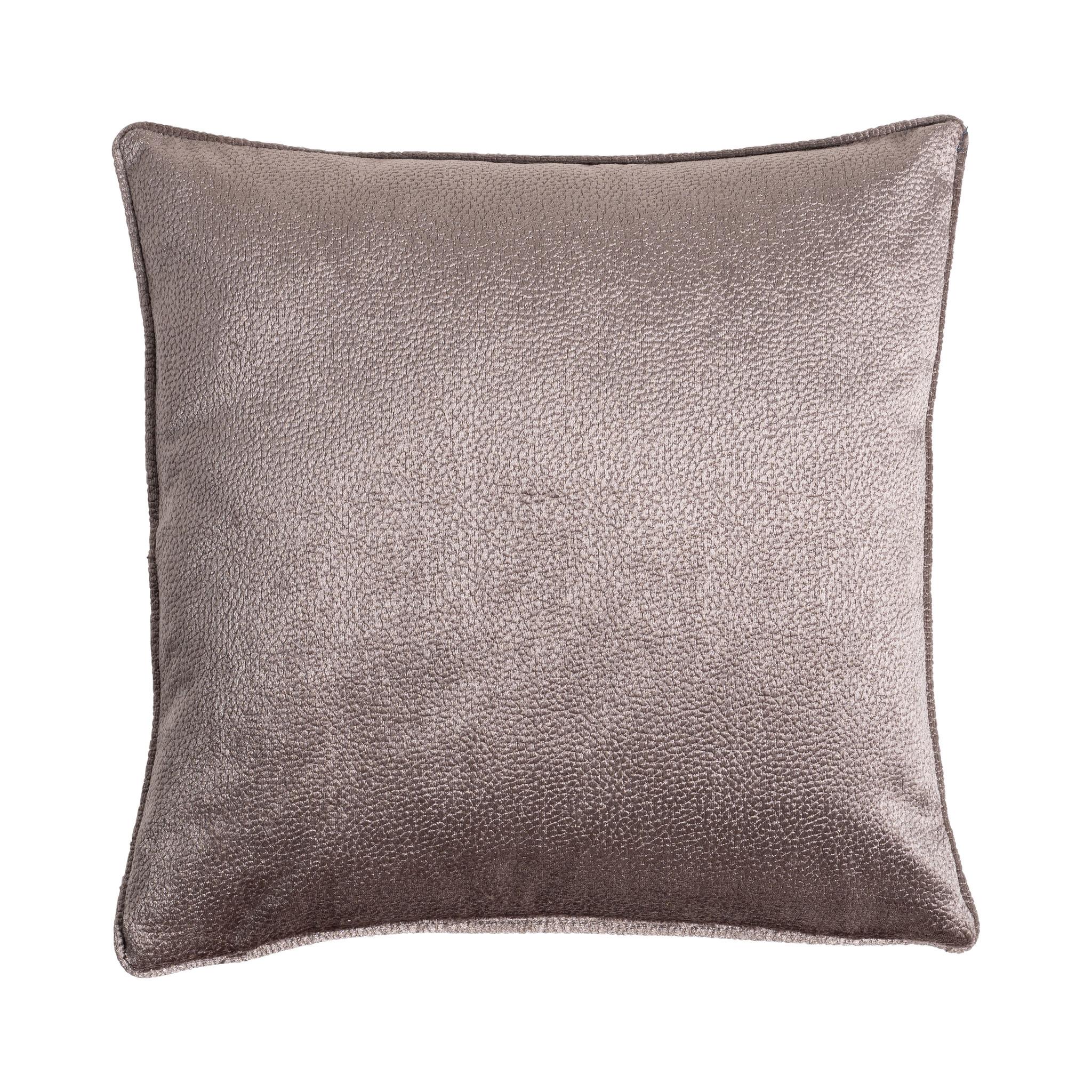 Presence Sierkussenhoes Embossed - Warm grijs Kleur: Grijs