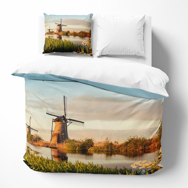 DLC Windmill Landscape 2-persoons (200 x 200/220 cm + 2 kussenslopen) Dekbedovertrek