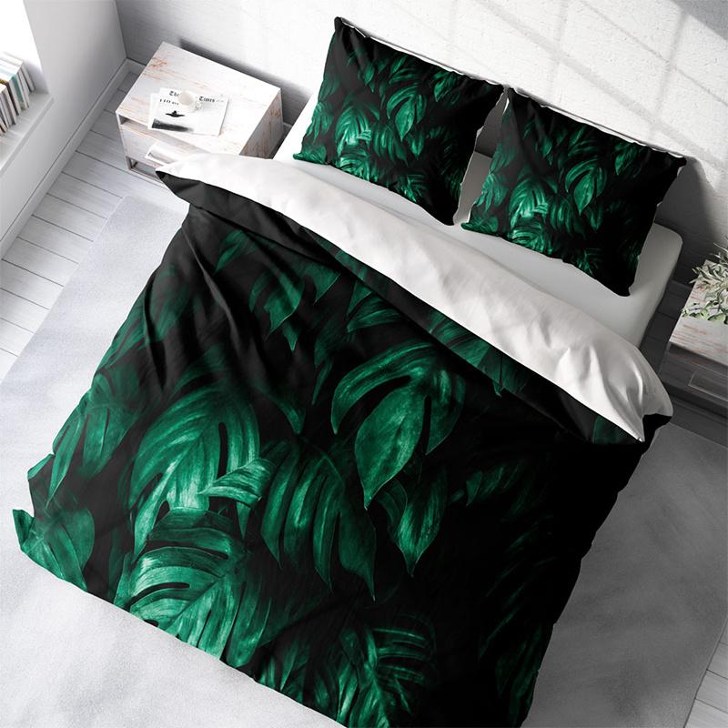 DLC Green Palms 1-persoons (140 x 200/220 cm + 1 kussensloop) Dekbedovertrek