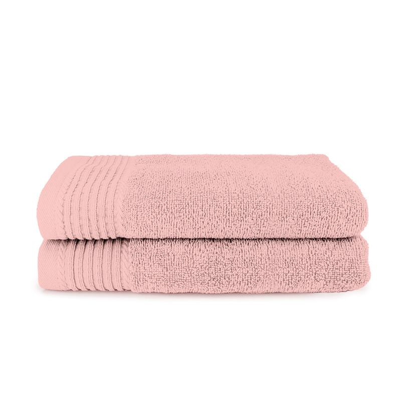 The One Towelling 2-PACK: Handdoek Deluxe - 60 x 110 cm - Zalmroze