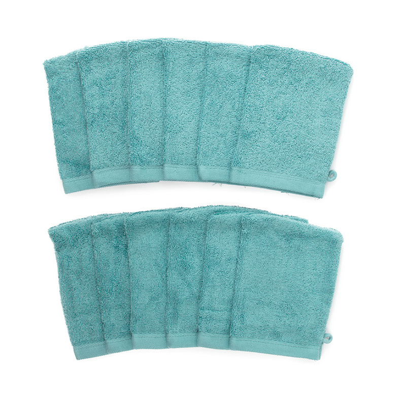 The One Towelling 12-PACK: Washandjes - 16 x 21 cm - Turquoise