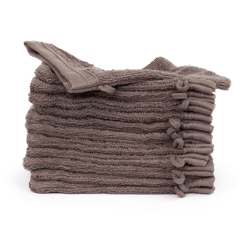 The One Towelling 12-PACK: Washandjes Organic - 16 x 21 cm - Taupe