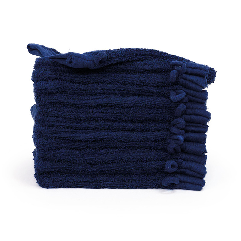 The One Towelling 12-PACK: Washandjes Organic - 16 x 21 cm - Navy