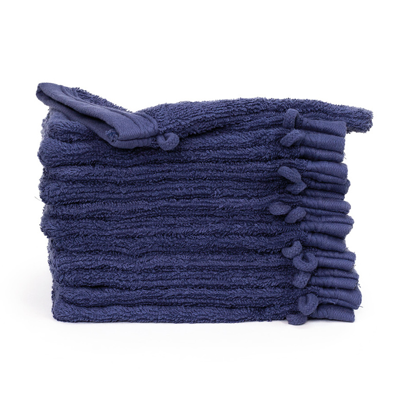 The One Towelling 12-PACK: Washandjes Organic - 16 x 21 cm - Denim