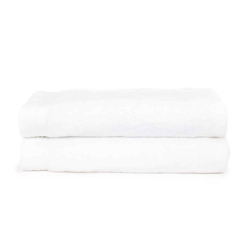 The One Towelling 2-PACK: Handdoek Organic - 70 x 140 cm - Wit