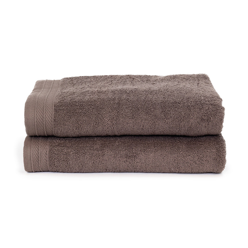 The One Towelling 2-PACK: Handdoek Organic - 70 x 140 cm - Taupe