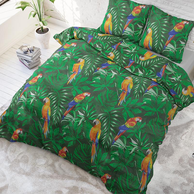 Sleeptime Elegance Botanic Parrot 2-persoons (200 x 220 cm + 2 kussenslopen) Dekbedovertrek