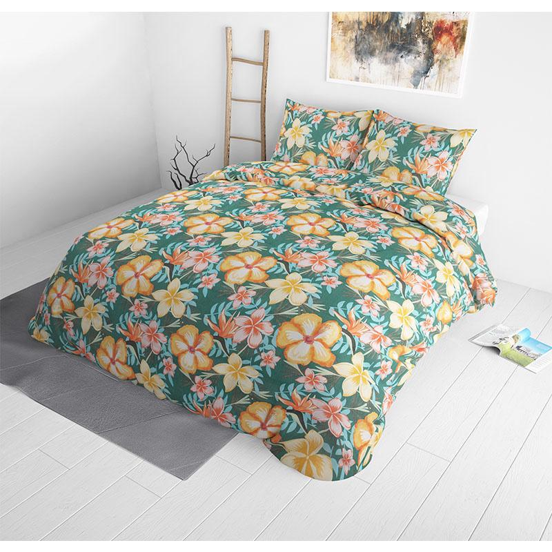 Sleeptime Elegance Pastel Jungle 1-persoons (140 x 220 cm + 1 kussensloop)