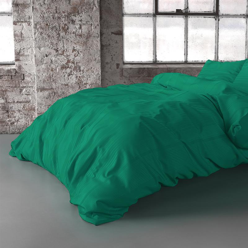 Fresh & Co Yorkshire - Groen 2-persoons (200 x 200/220 cm + 2 kussenslopen) Dekbedovertrek