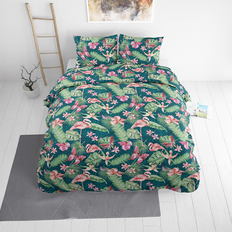 Sleeptime Elegance Summer Tropical Lits-jumeaux (240 x 220 cm + 2 kussenslopen) Dekbedovertrek