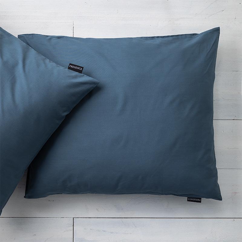 Presence 2-PACK: Kussenslopen Percale Katoen- Donkerblauw 60 x 70 cm