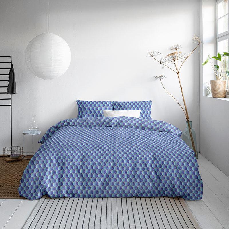 DreamHouse Bedding Orazio - Blauw Lits-jumeaux (240 x 200/220 cm + 2 kussenslopen) Dekbedovertrek