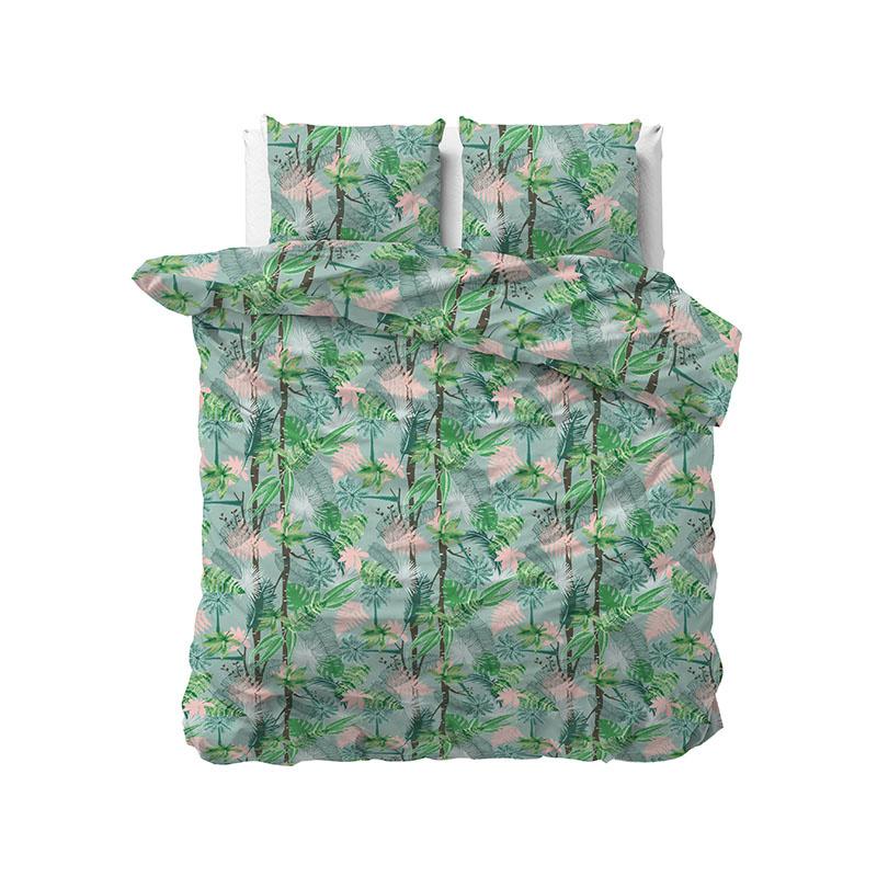 Sleeptime Elegance Palm Jungle 1-persoons (140 x 220 cm + 1 kussensloop)