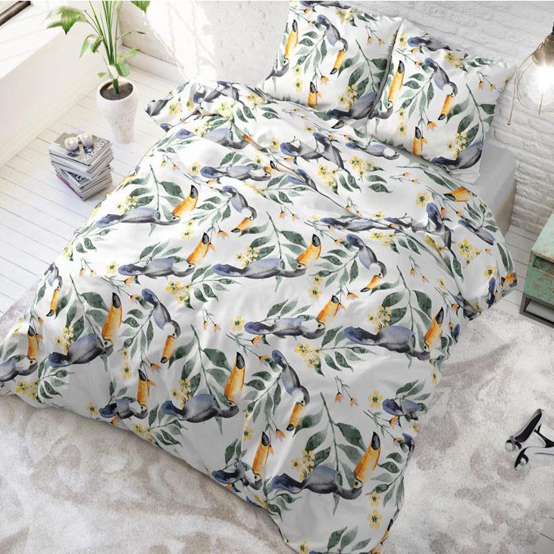 sleeptimeelegance Sleeptime Elegance Tropical Vibes 1-persoons (140 x 220 cm + 1 kussensloop) Dekbedovertrek