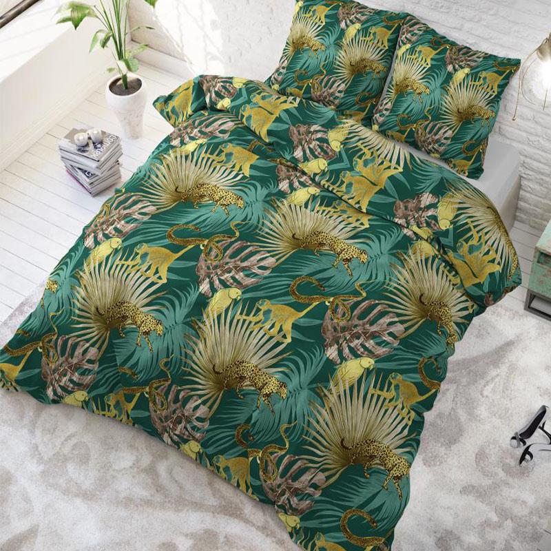 sleeptimeelegance Sleeptime Elegance Golden Botanical 1-persoons (140 x 220 cm + 1 kussensloop) Dekbedovertrek