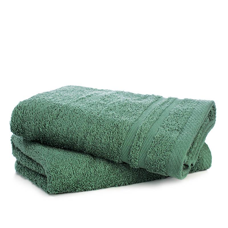 Fresh & Co 2-PACK: Handdoeken - Donkergroen