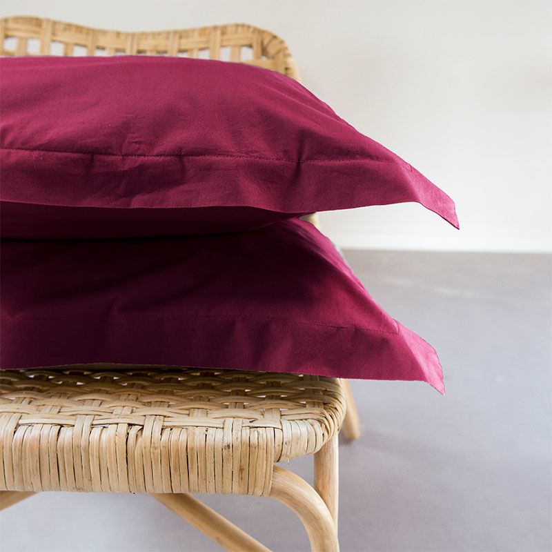 Presence 2-PACK: Egyptisch Luxe Katoen Kussenslopen - Bordeaux