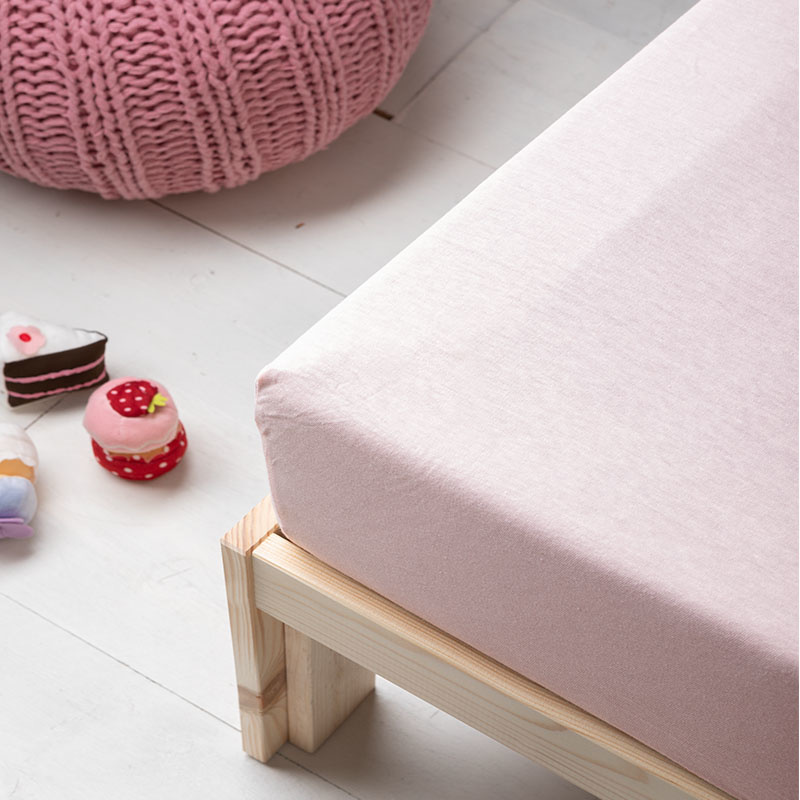 Fresh&Co Kids Jersey Hoeslaken Kids - Roze Ledikant - 60 x 120
