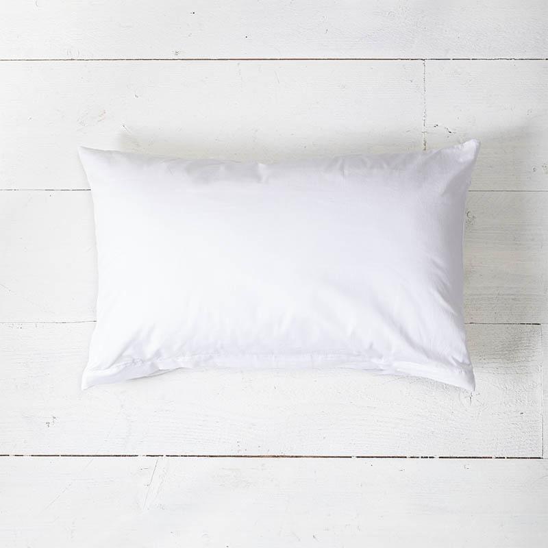 1+1 Gratis - Sierkussenslopen Luxe Katoen - Wit Presence Effen 30 x 50 cm - Ga naar Dekbed-Discounte