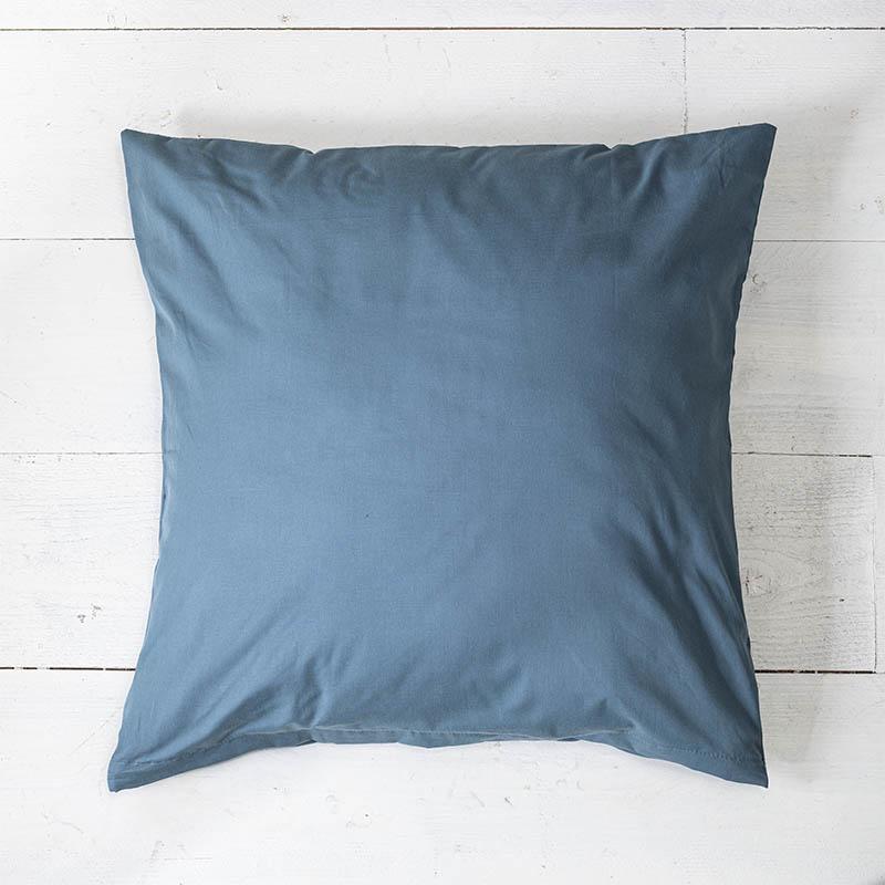 Presence 2-PACK: Sierkussenslopen Luxe Katoen - Donkerblauw 50 x 50 cm