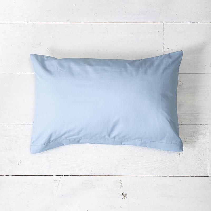 1+1 Gratis - Sierkussenslopen Luxe Katoen - Lichtblauw Presence Effen 30 x 50 cm - Ga naar Dekbed-Di