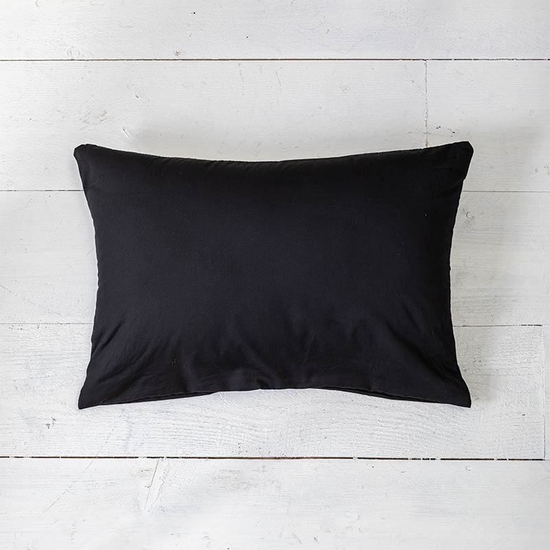 Presence 2-PACK: Sierkussenslopen Luxe Katoen - Off Black 30 x 50 cm