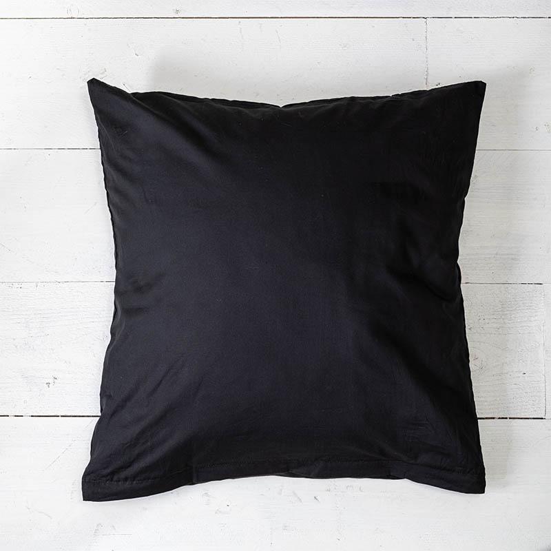 Presence 2-PACK: Sierkussenslopen Luxe Katoen - Off Black 50 x 50 cm