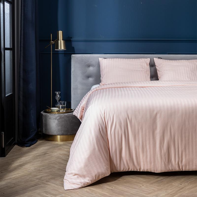 Presence Satijnstreep – Roze Lits-jumeaux (240 x 200/220 cm + 2 kussenslopen) Dekbedovertrek