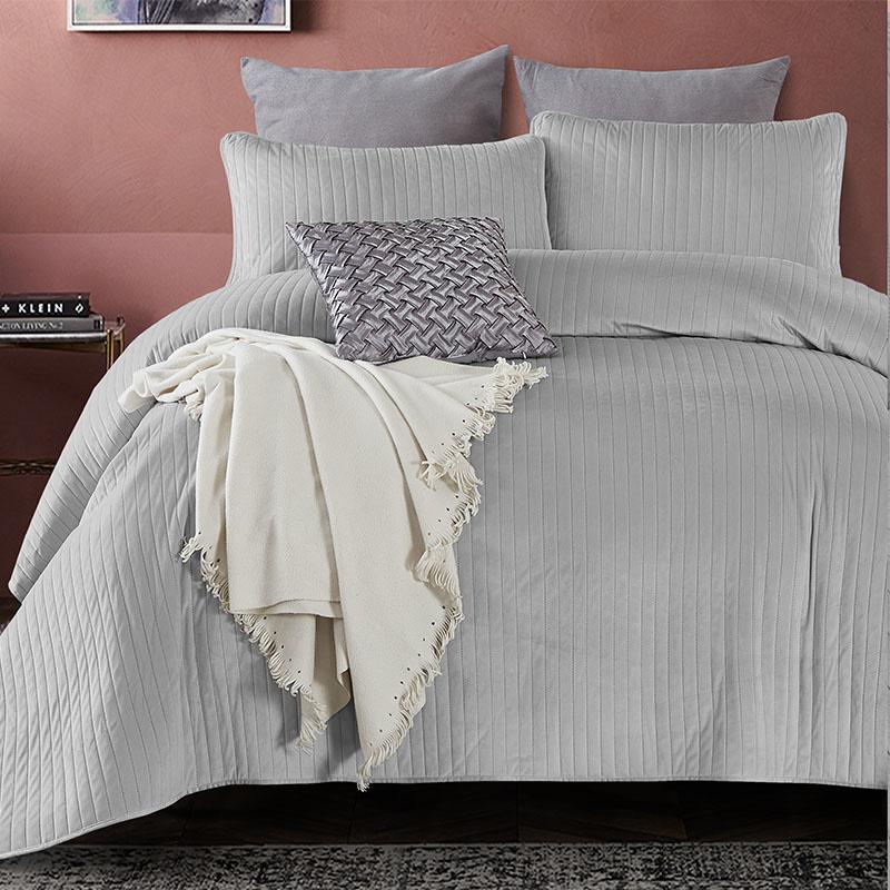 DreamHouse Bedding Bedsprei - Texas - Grijs 260 x 250 + 2 kussenslopen