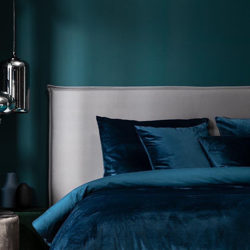 Presence 2-Pack Sierkussenslopen Velvet - Blauw 50 x 50 cm