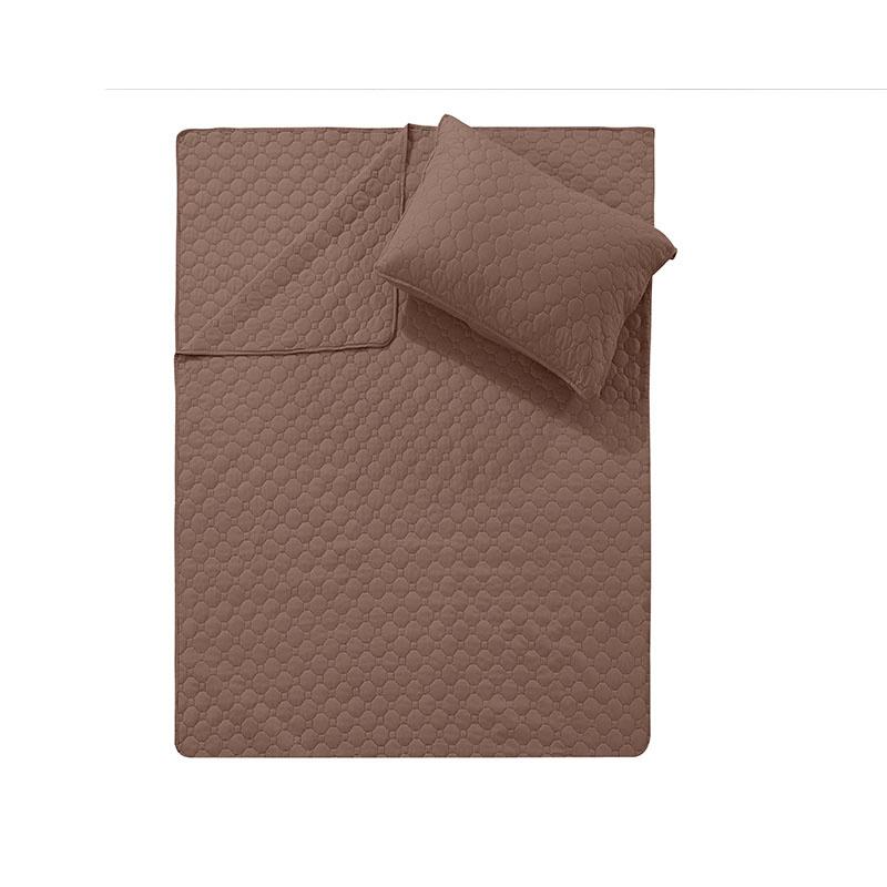 DreamHouse Bedding Bedsprei Fremont - Bruin 180 x 250 + 1 kussensloop