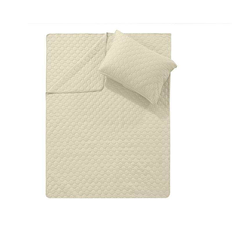 DreamHouse Bedding Bedsprei Fremont - Creme 180 x 250 + 1 kussensloop