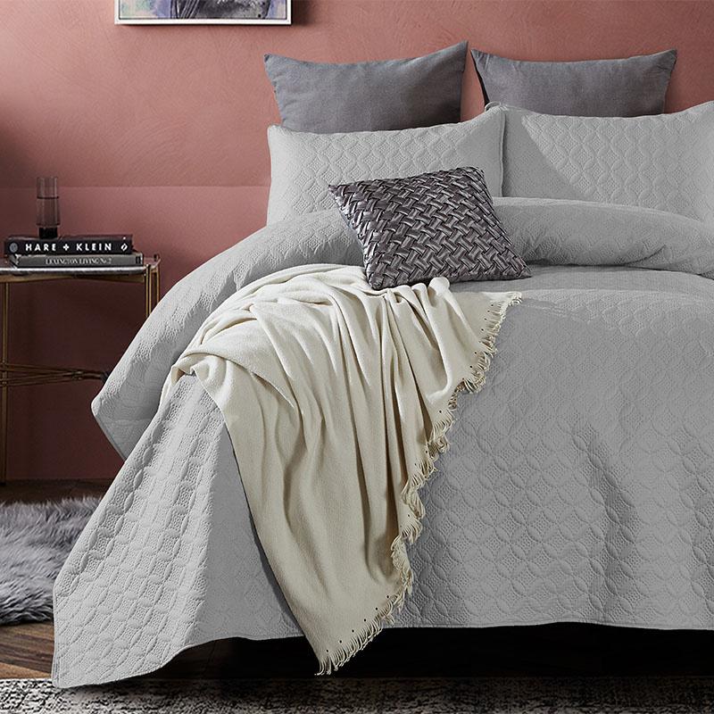 DreamHouse Bedding Bedsprei Florida - Grijs 180 x 250 + 1 kussensloop