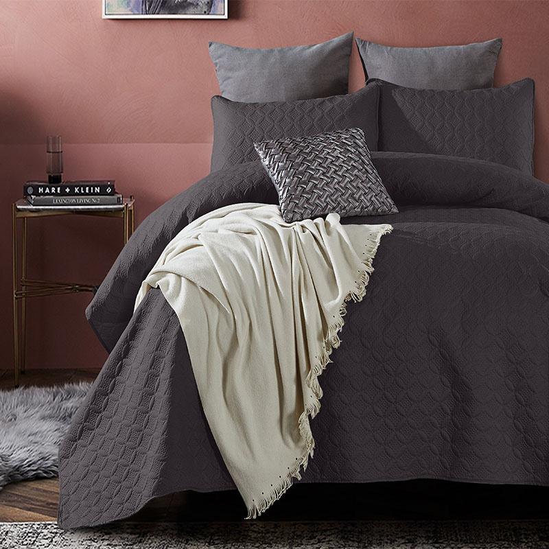 DreamHouse Bedding Bedsprei Florida - Antraciet 260 x 250 + 2 kussenslopen