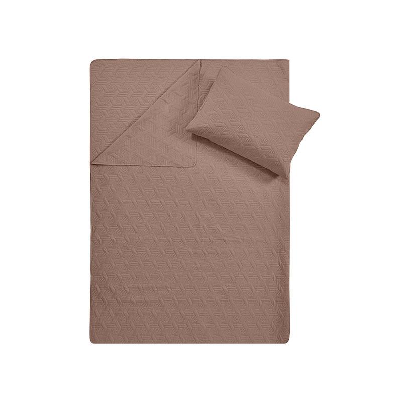 DreamHouse Bedding Bedsprei Baltimore - Bruin 180 x 250 + 1 kussensloop