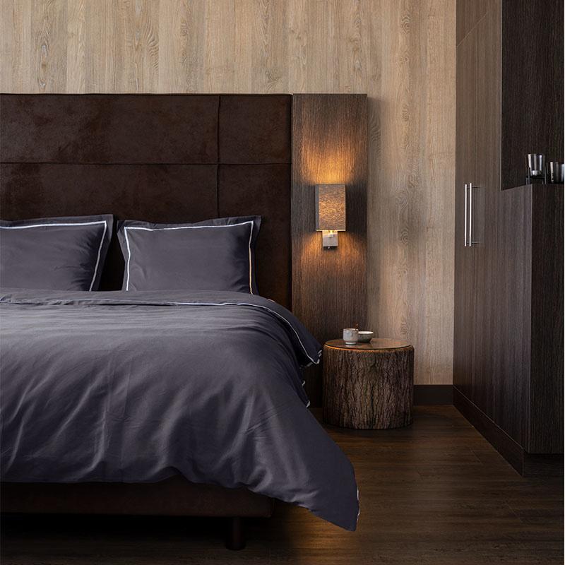 Hotel Home Collection London – Antraciet Lits-jumeaux (240 x 200/220 cm) Dekbedovertrek