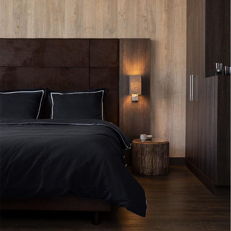 Hotel Home Collection London – Zwart 1-persoons (140 x 200/220 cm) Dekbedovertrek